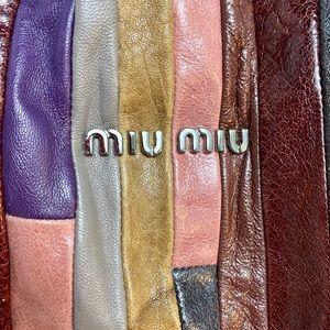 miu miu HUGE Vintage Patchwork Leather Hand Bag